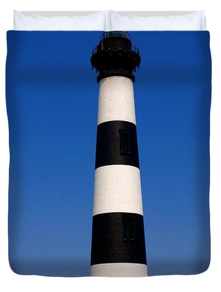 Bodie Island Lighthouse Outer Banks Nc Duvet Cover by Susanne Van Hulst