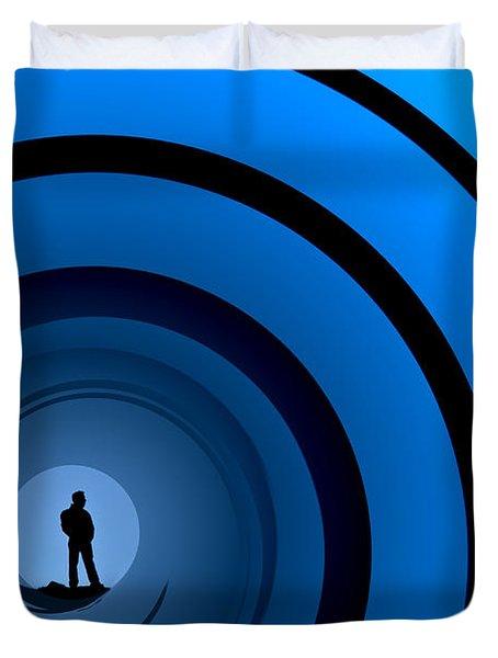 Bond Man Duvet Cover by Steve Purnell