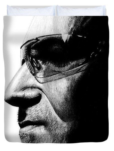 Bono - Half The Man Duvet Cover by Kayleigh Semeniuk