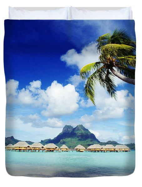 Bora Bora, Lagoon Resort Duvet Cover by Himani - Printscapes