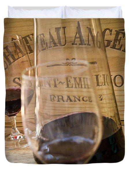 Bordeaux Wine Tasting Duvet Cover by Frank Tschakert