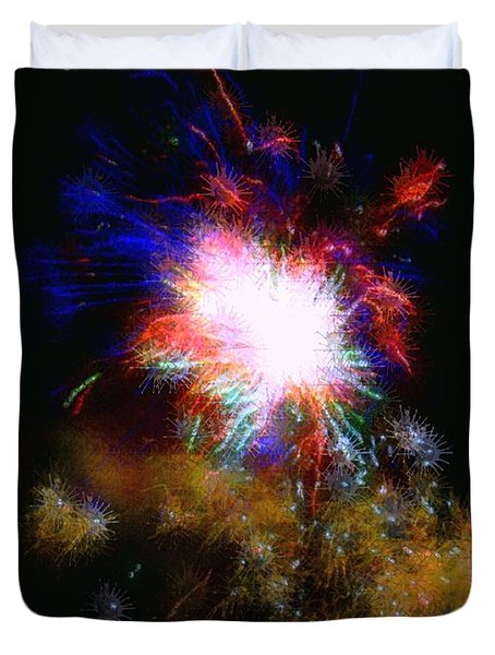 Born On The 4th Of July Duvet Cover by Dale   Ford