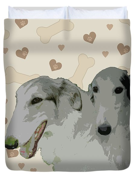 Borzoi Duvet Cover by One Rude Dawg Orcutt