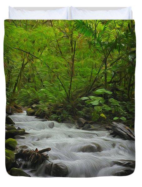 Bosque de Paz Duvet Cover by Tony Beck