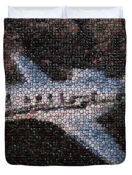 Bottle Cap Cessna Citation Mosaic Duvet Cover by Paul Van Scott