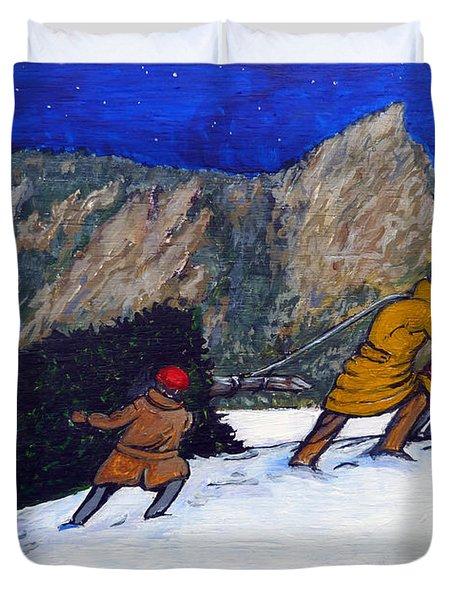 Boulder Christmas Duvet Cover by Tom Roderick