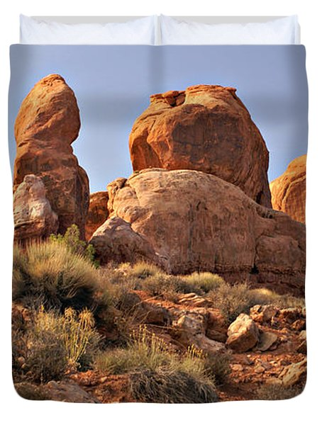 Boulder Landscape Duvet Cover by Marty Koch