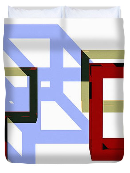 Boxed In Duvet Cover by Richard Rizzo