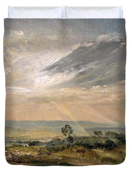 Branch Hill Pond Hampstead Duvet Cover by John Constable
