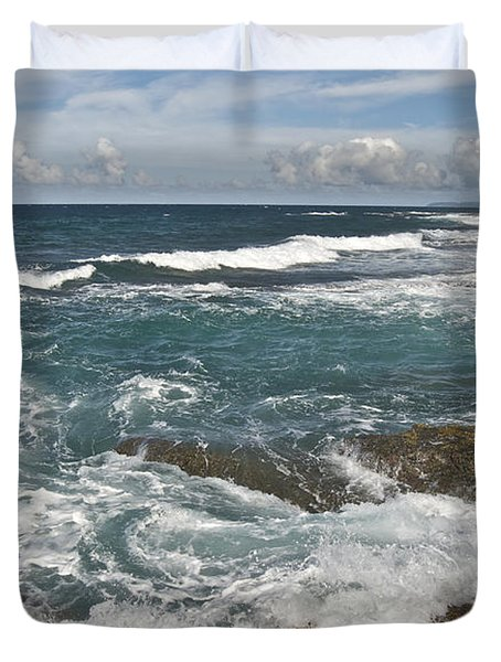 Breaking Waves 7919 Duvet Cover by Michael Peychich