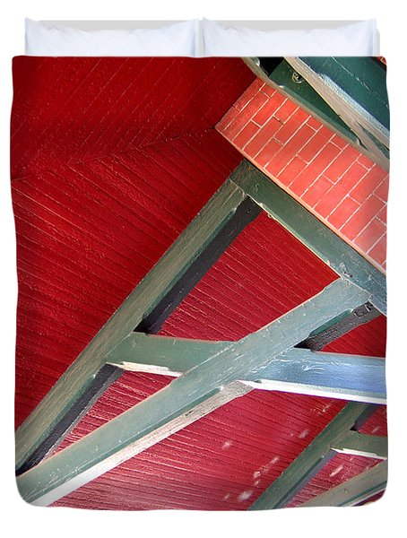 Brick And Wood Truss Duvet Cover by Denise Keegan Frawley