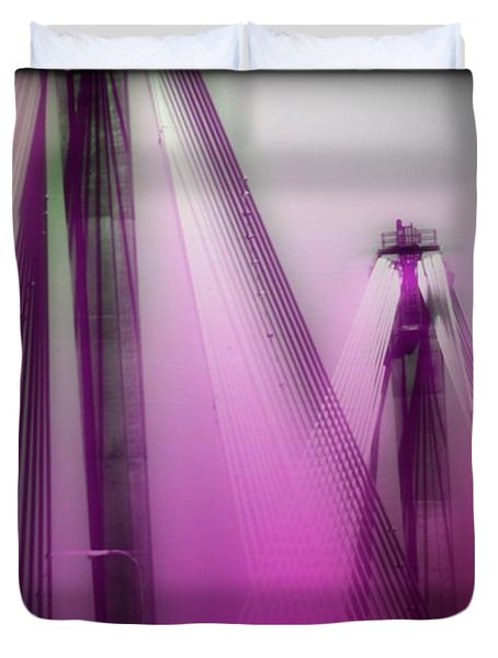 Bridge Cables One Duvet Cover by Marty Koch