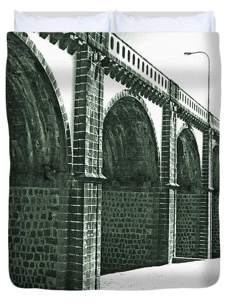 Bridge In Ribeira Grande Duvet Cover by Gaspar Avila