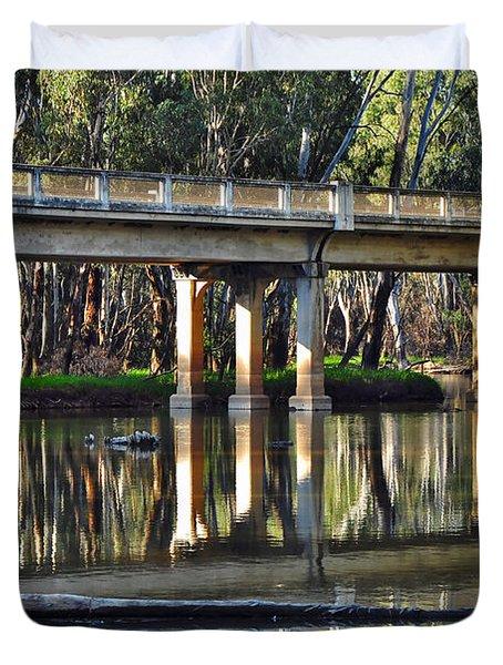 Bridge over Ovens River 2 Duvet Cover by Kaye Menner