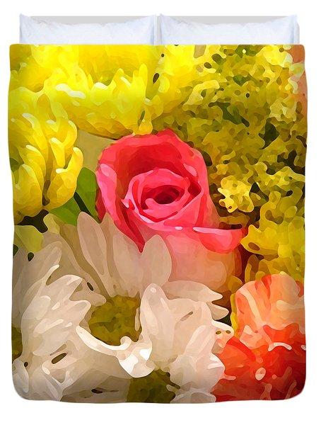 Bright Spring Flowers Duvet Cover by Amy Vangsgard