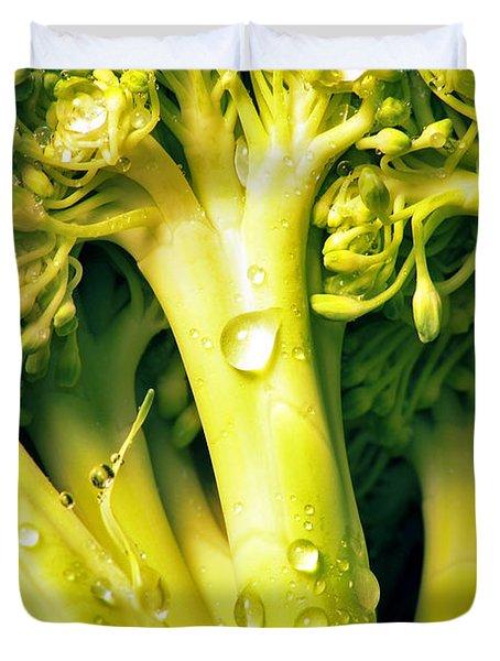 Broccoli Scape I Duvet Cover by Nancy Mueller