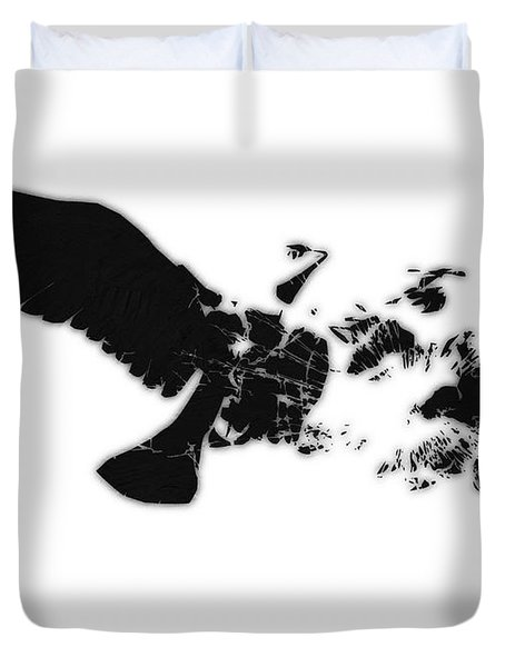 Broken Peace Duvet Cover by Pixel Chimp