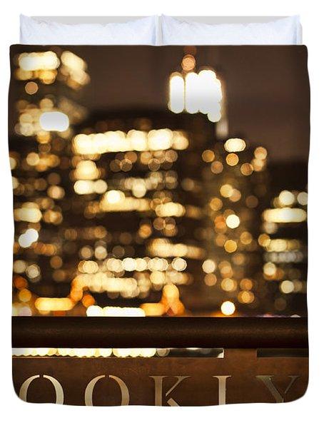 Brooklyn Bubbly Duvet Cover by Andrew Paranavitana