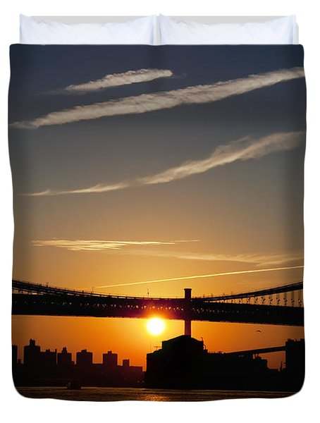 Brooklyn Sunrise Duvet Cover by Bill Cannon