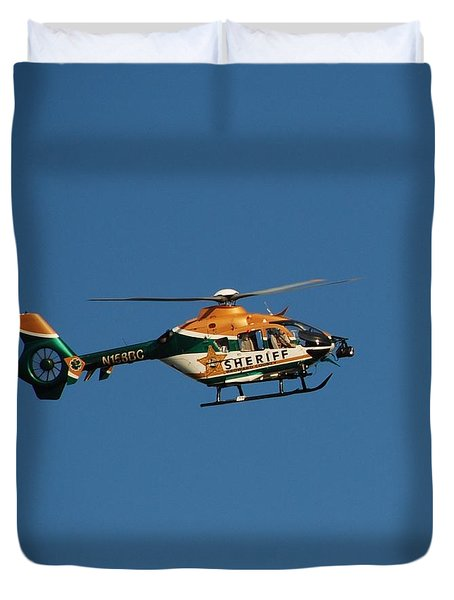 Broward County Sherriff Cop Ter Duvet Cover by Rob Hans