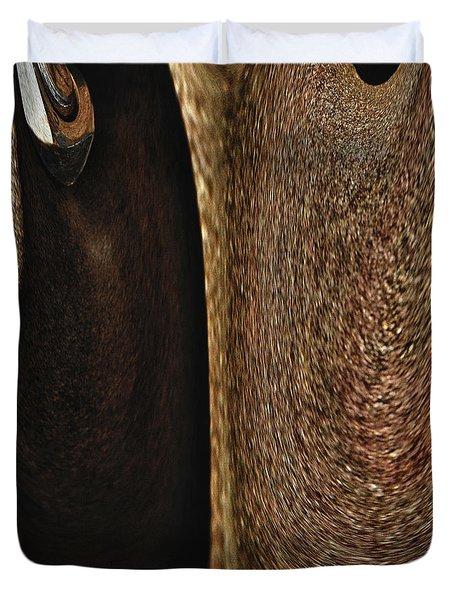 Brown Metal Duvet Cover by Skip Nall