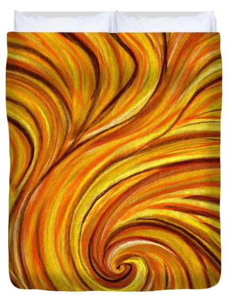Brown Swirl Duvet Cover by Hakon Soreide
