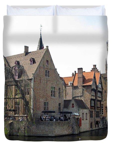 Brugge. Belgium. Spring 2011 Duvet Cover by Ausra Huntington nee Paulauskaite