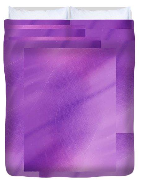 Brushed Purple Violet 7 Duvet Cover by Tim Allen