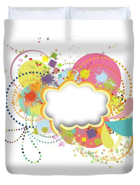 Bubble Speech Duvet Cover by Setsiri Silapasuwanchai