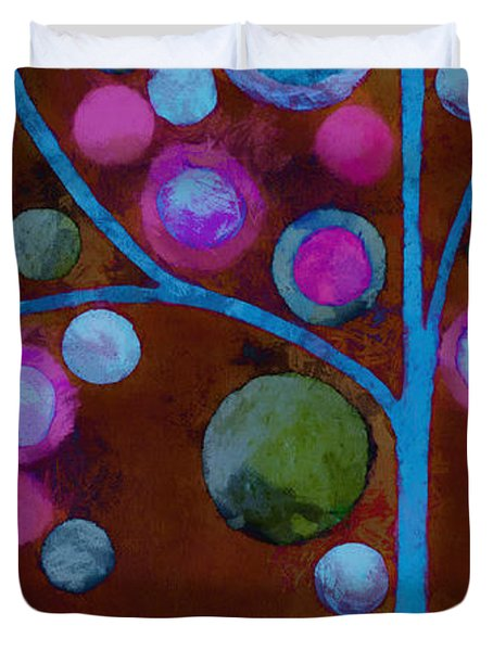 Bubble Tree - W02d - Left Duvet Cover by Variance Collections