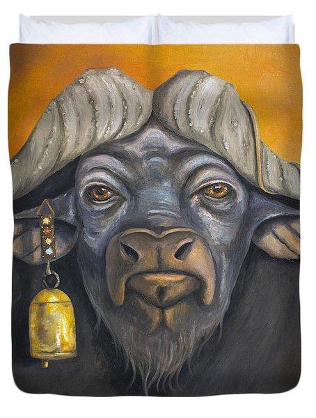 Buffalo Bells Duvet Cover by Leah Saulnier The Painting Maniac