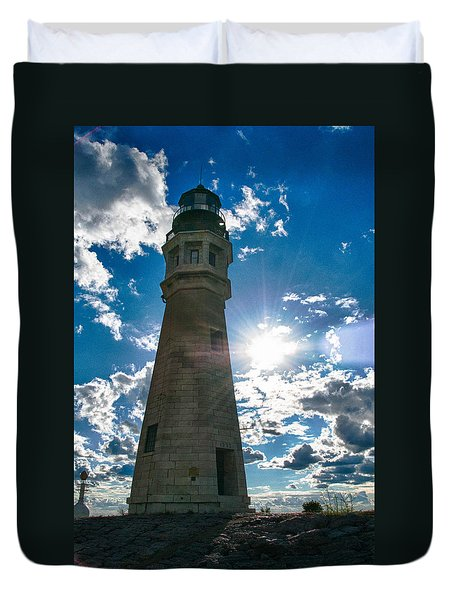 Buffalo Lighthouse 15717c Duvet Cover by Guy Whiteley