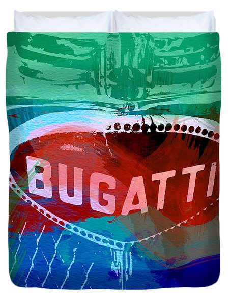 Bugatti Badge Duvet Cover by Naxart Studio