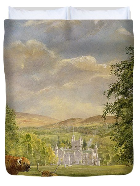 Bulls At Balmoral Duvet Cover by Tim Scott Bolton