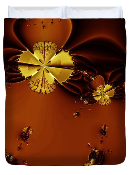 Bumble Beez Over Chocolate Lake . S19 Duvet Cover by Wingsdomain Art and Photography