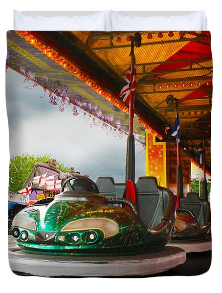 Bumper Cars Duvet Cover by Terri Waters
