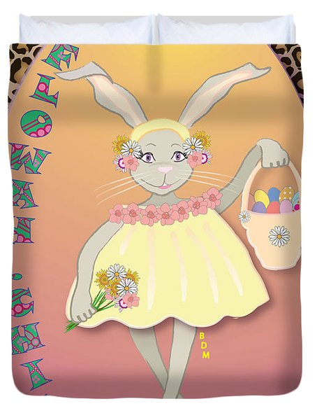 BUNNIE GIRLS- FLOWAH CHILE 1 OF 4  Duvet Cover by BRENDA DULAN MOORE