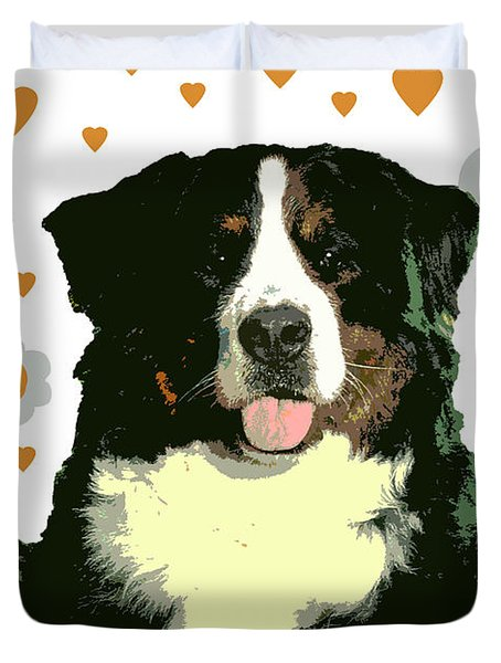 Burmese Mountain Dog Duvet Cover by One Rude Dawg Orcutt