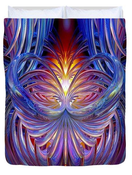 Burning Heart Of Desire Fx  Duvet Cover by G Adam Orosco