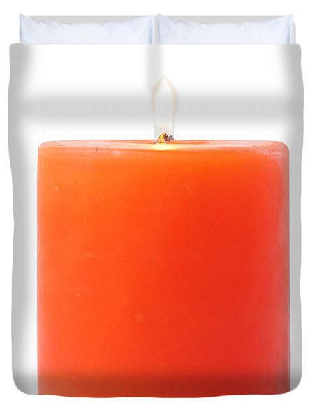 burning red candle Duvet Cover by ATIKETTA SANGASAENG