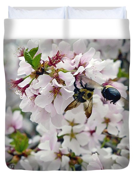 Busy Bees Duvet Cover by Brian Wallace