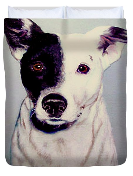 Butch The Smooth Fox Terrier Duvet Cover by Bob and Nadine Johnston
