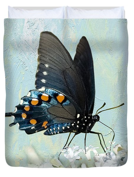 Butterfly Candy Duvet Cover by Betty LaRue