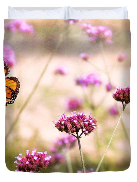 Butterfly - Monarach - The Sweet Life Duvet Cover by Mike Savad