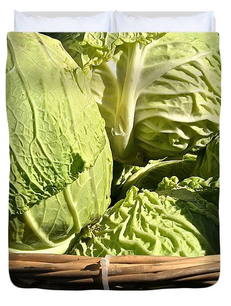 Cabbage Heads Duvet Cover by Susan Herber