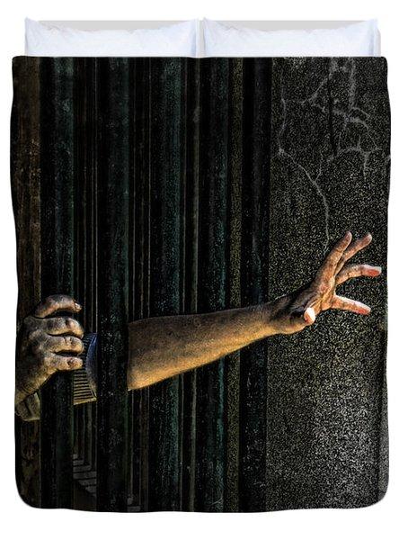Caged 3 Duvet Cover by Jill Battaglia