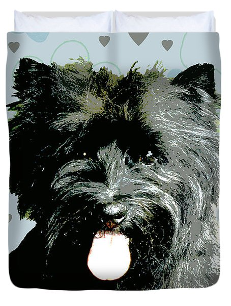 Cairn Terrier Duvet Cover by One Rude Dawg Orcutt
