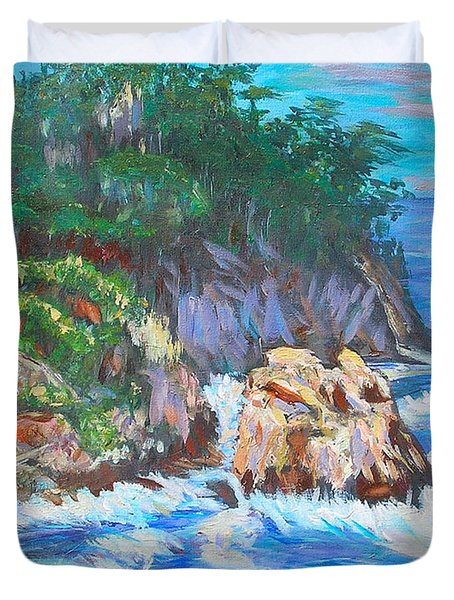 California Coast Duvet Cover by Carolyn Donnell