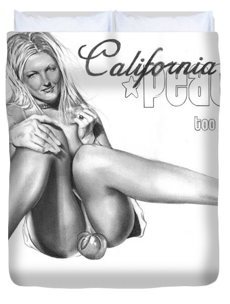 California Peaches Duvet Cover by Pete Tapang