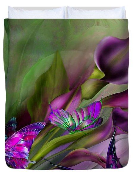Calla Lilies Duvet Cover by Carol Cavalaris